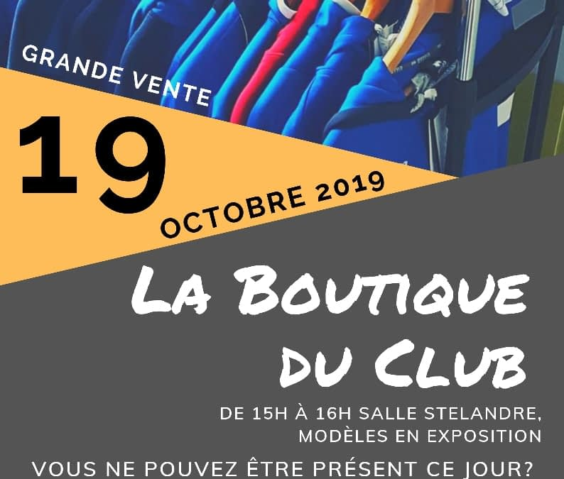 Grande Vente – Boutique du Volley Ball de Roncq – Octobre 2019