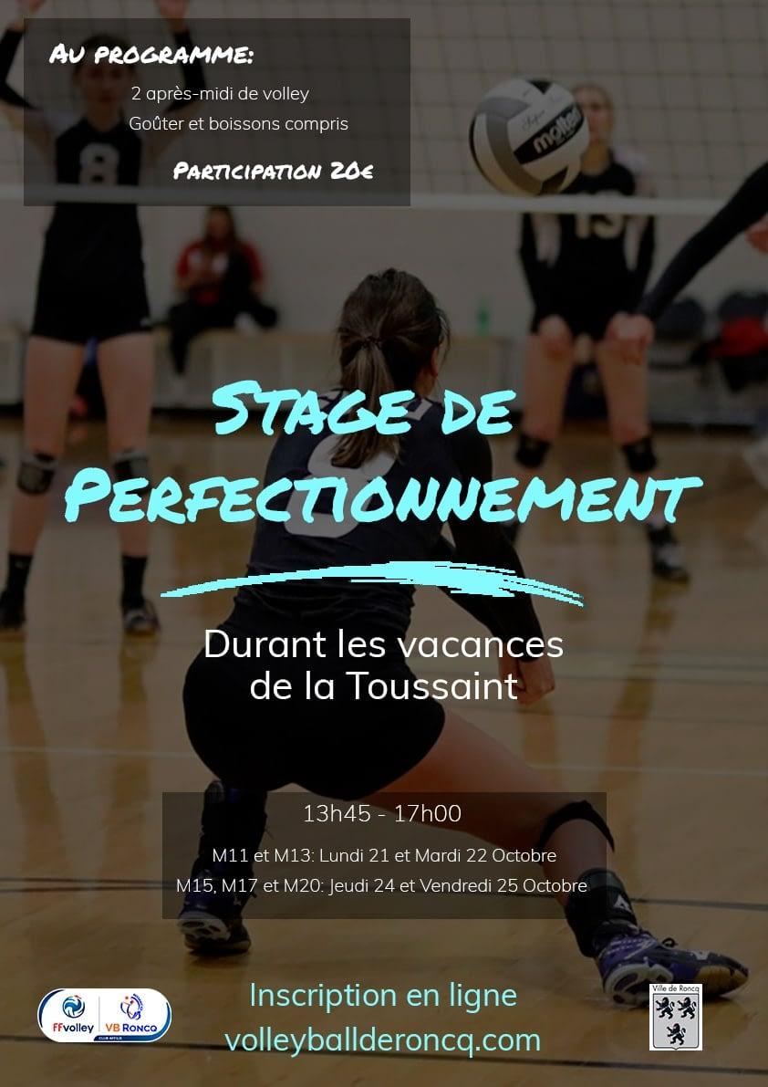 Stage de perfectionnement Toussaint 2019