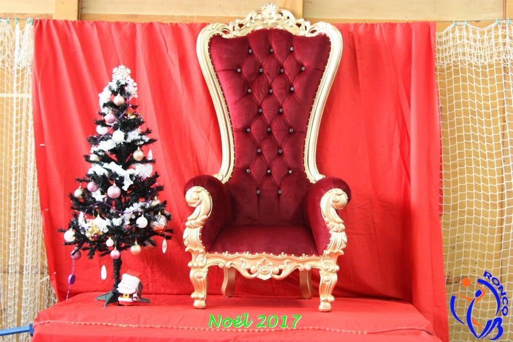 trone du pere Noel 2019